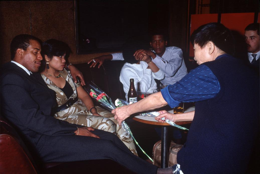 Flower Seller and Sailors, Wanchai, 1985