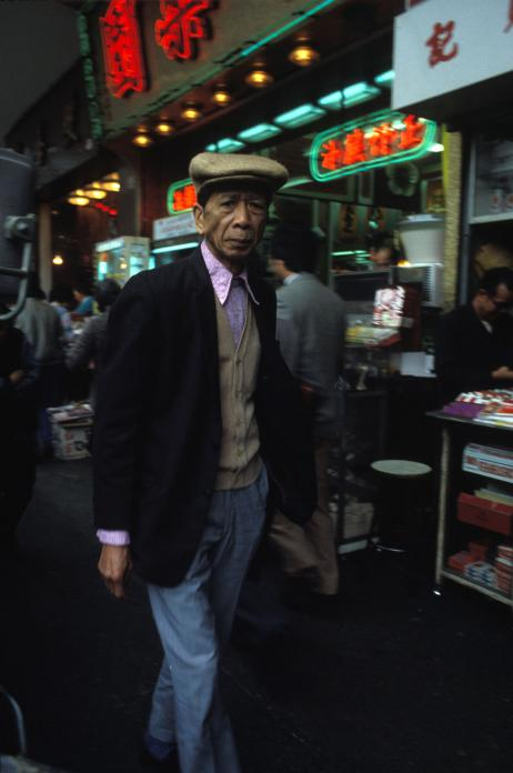 Man in Street, Wanchai, 1983