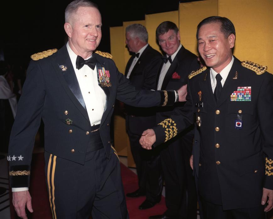 American and Korean Officers at Joint Services Awards Ceremony, Seoul, Korea. 2008