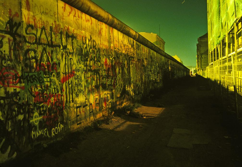 Berlin Wall (Dark Alley with Green Sky)