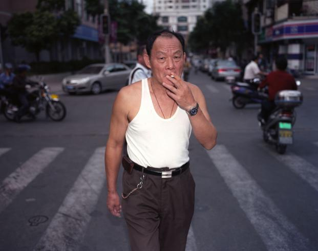 Man Smoking, Shanghai, 2010